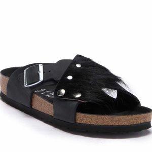 Birkenstock Guam genuine fur slide sandal